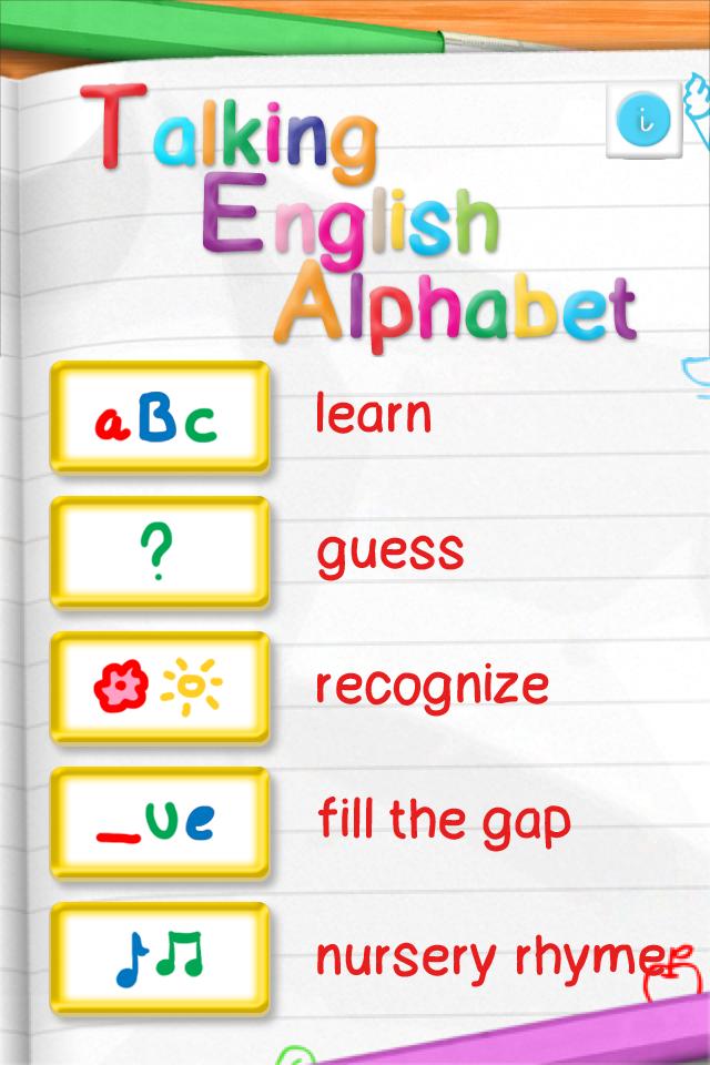 Screenshot Talking English Alphabet